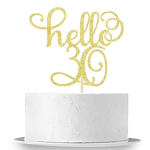 INNORU - Decoración para tarta con purpurina dorada para 30 ...