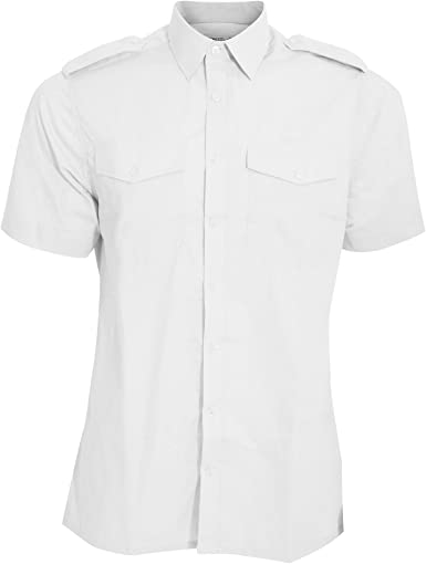 Kuston Kit - Camisa de piloto de Manga Corta Modelo Pilot Hombre Caballero: Amazon.es: Ropa y accesorios