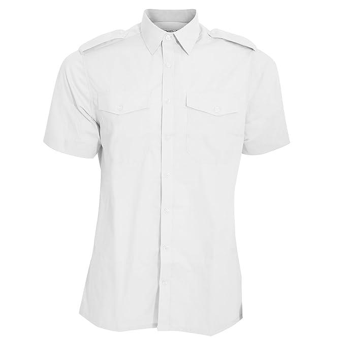 Kuston Kit - Camisa de piloto de Manga Corta Modelo Pilot Hombre ...