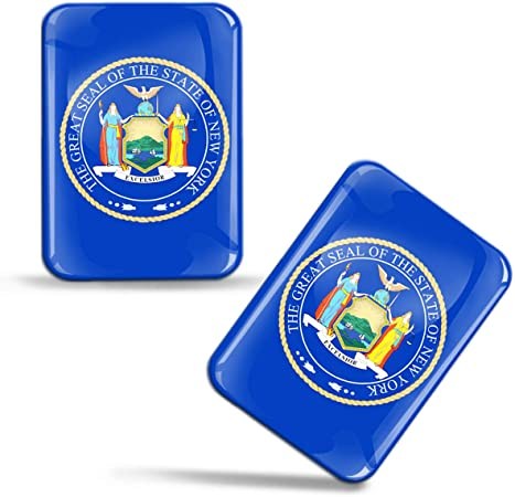 Sticker Great Seal State Oklahoma Shield Adhesive Decal Resin Domed Car 3D