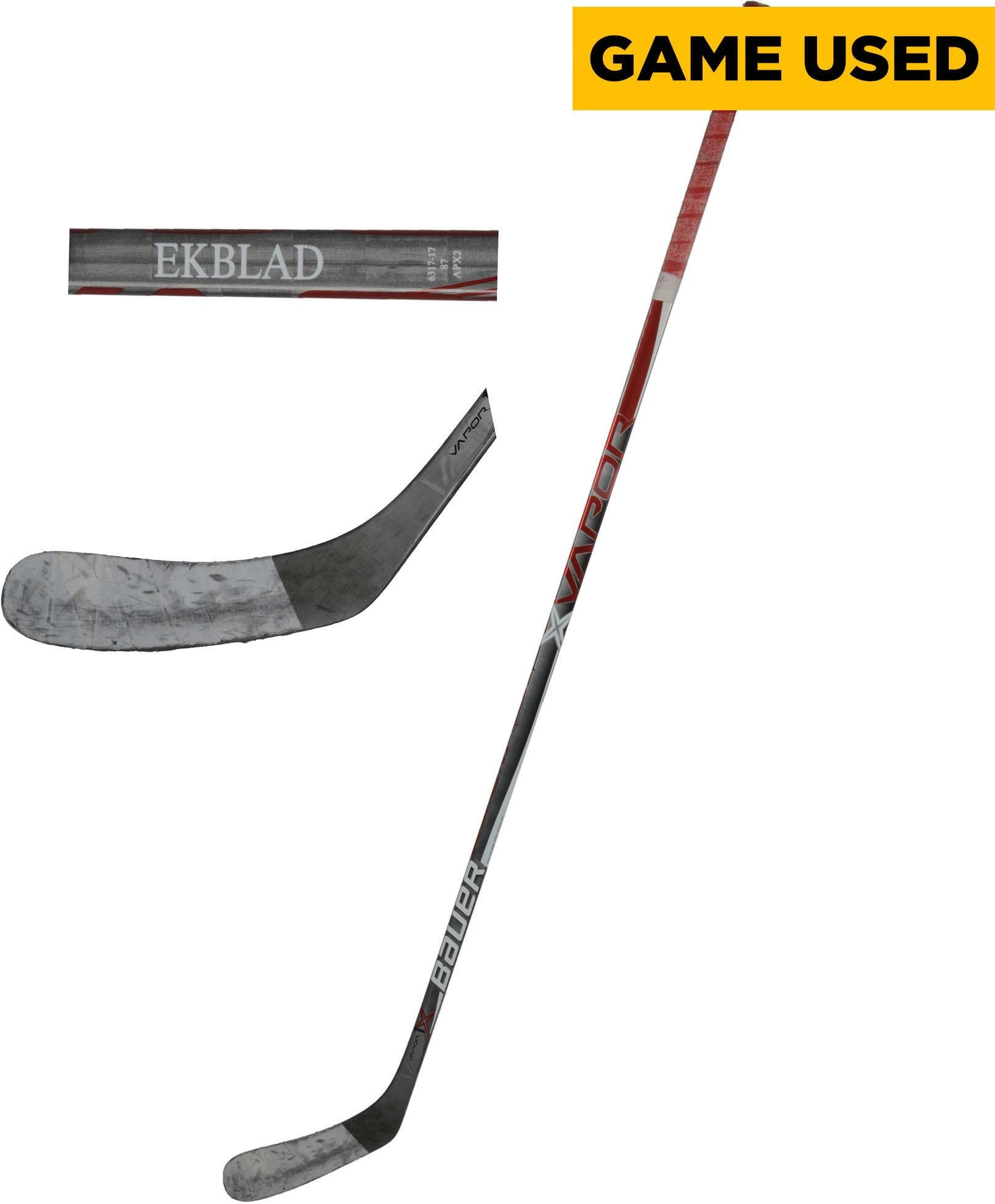 Aaron Ekblad Florida Panthers Game Used Gray Bauer Vapor 1X Hockey Stick from the 2016 17 NHL Season Fanatics Authentic Certified