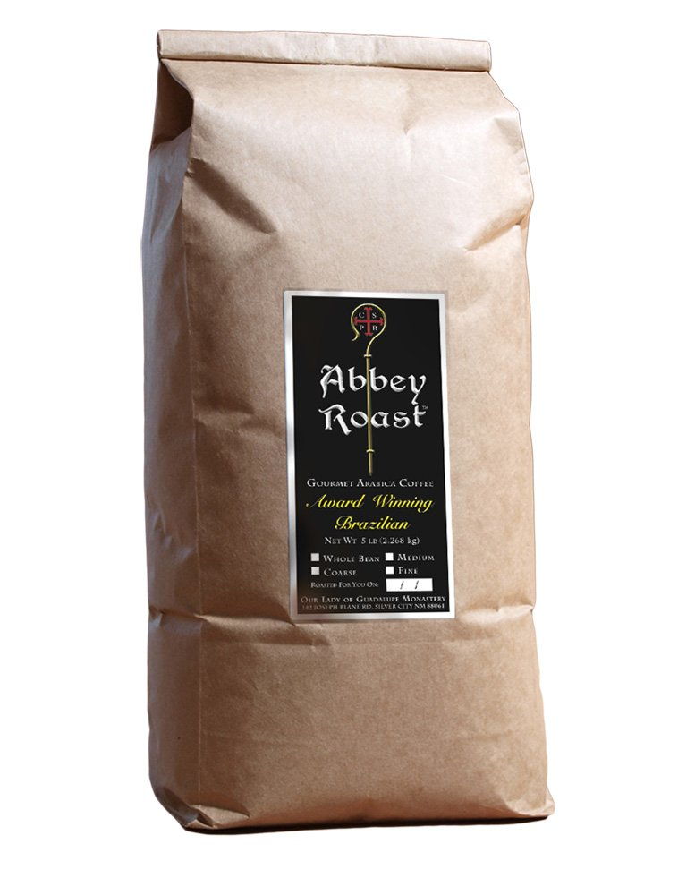 B01LIFT48Y Award Winning Abbey Roast Brazilian Coffee, 100% Arabica, freshly roasted, whole bean - 5lb.. 61Teq-Ov2BUL