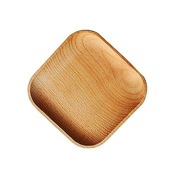 Fenteer Holz Servierplatte, Eckig Tee Tablett Obst Dessert Kuchen Snack  Teller Holzschalen   Platz