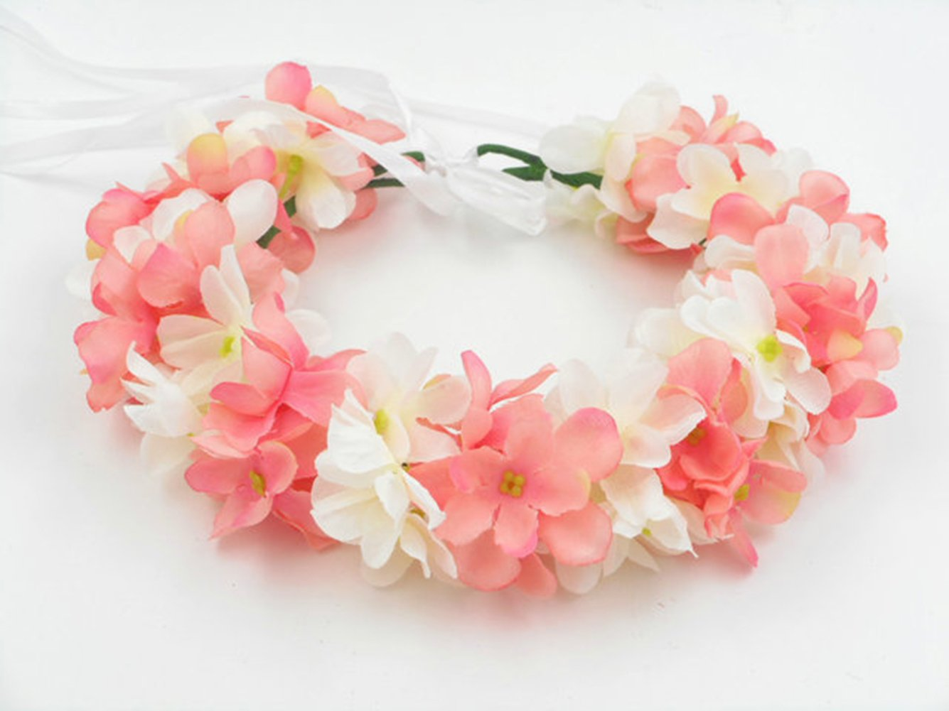 Amazon Hawaiian Artificial Hydrangea Flowers Crown Hippy Flower
