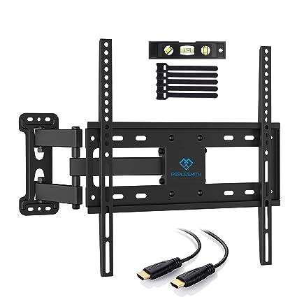 PERLESMITH Support Mural TV Inclinable Pivot et Rotation - Mouvement  Complet avec Bras Articulé VESA 400x400mm d8bae03c323e