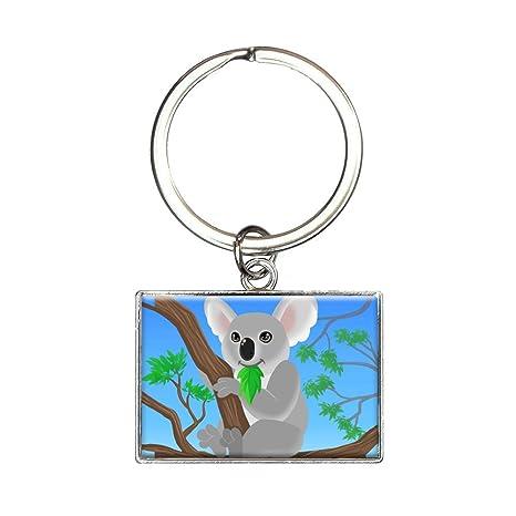 Koala Rectángulo llavero clave Anillo: Amazon.es: Oficina y ...