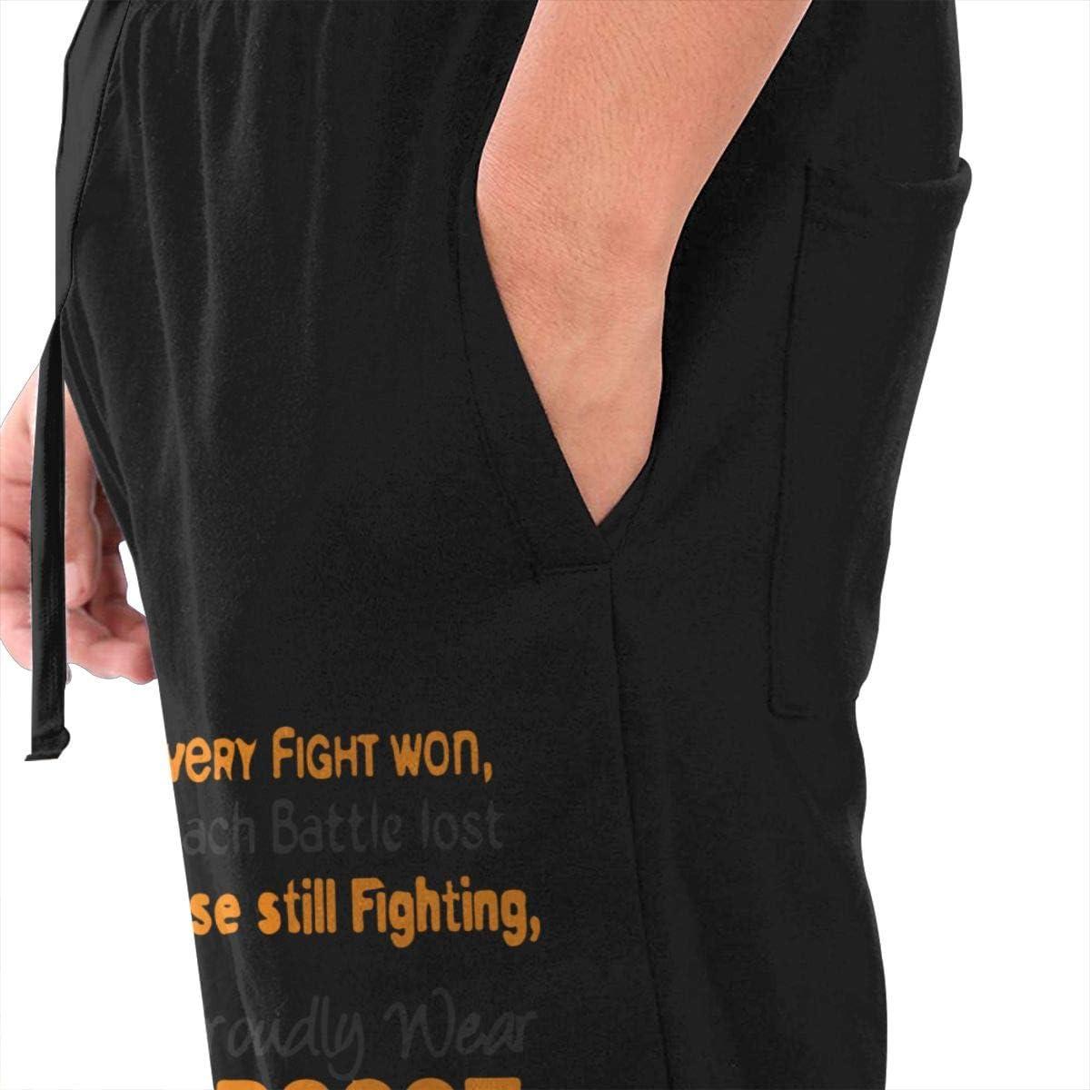 S-3XL Close Bottom Long Pants with Drawstring and Pockets Mens Leukemia Awareness Athletic Sweatpants