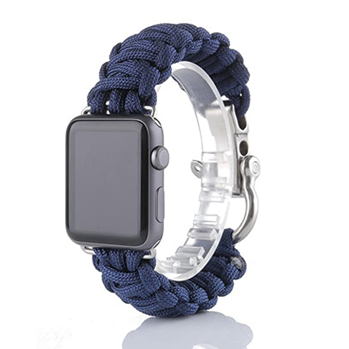 Amazon.com: Marrivoe New Nylon Rope Survival Bracelet Watch Band for iWatch Apple Watch 42mm: Watches