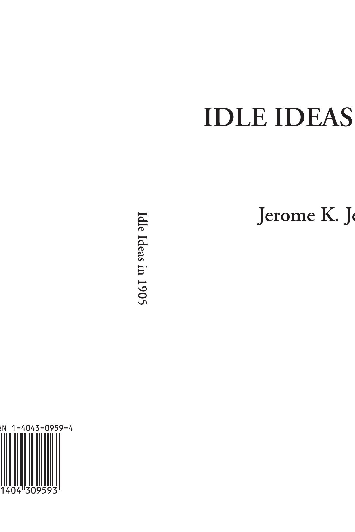 Download Idle Ideas in 1905 pdf epub