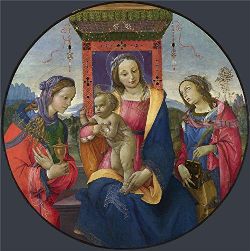 Oil Painting 'Raffaellino Del Garbo The Virgin And Child With Saints', 12 x 12 inch / 30 x 31 cm , on High Definition HD canvas prints, gifts for Dining - Gate Fountain Myer
