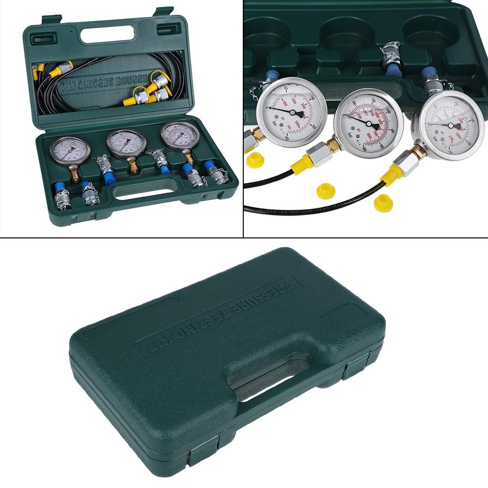 Excavator Hydraulic Pressure Test Kit with Testing Hose Coupling and Gauge Hydraulic Pressure Test Kit