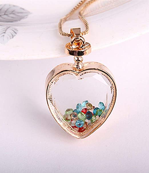 Heart Key Chain Amethyst Rose Quartz Citrine Live Love Laugh Charm