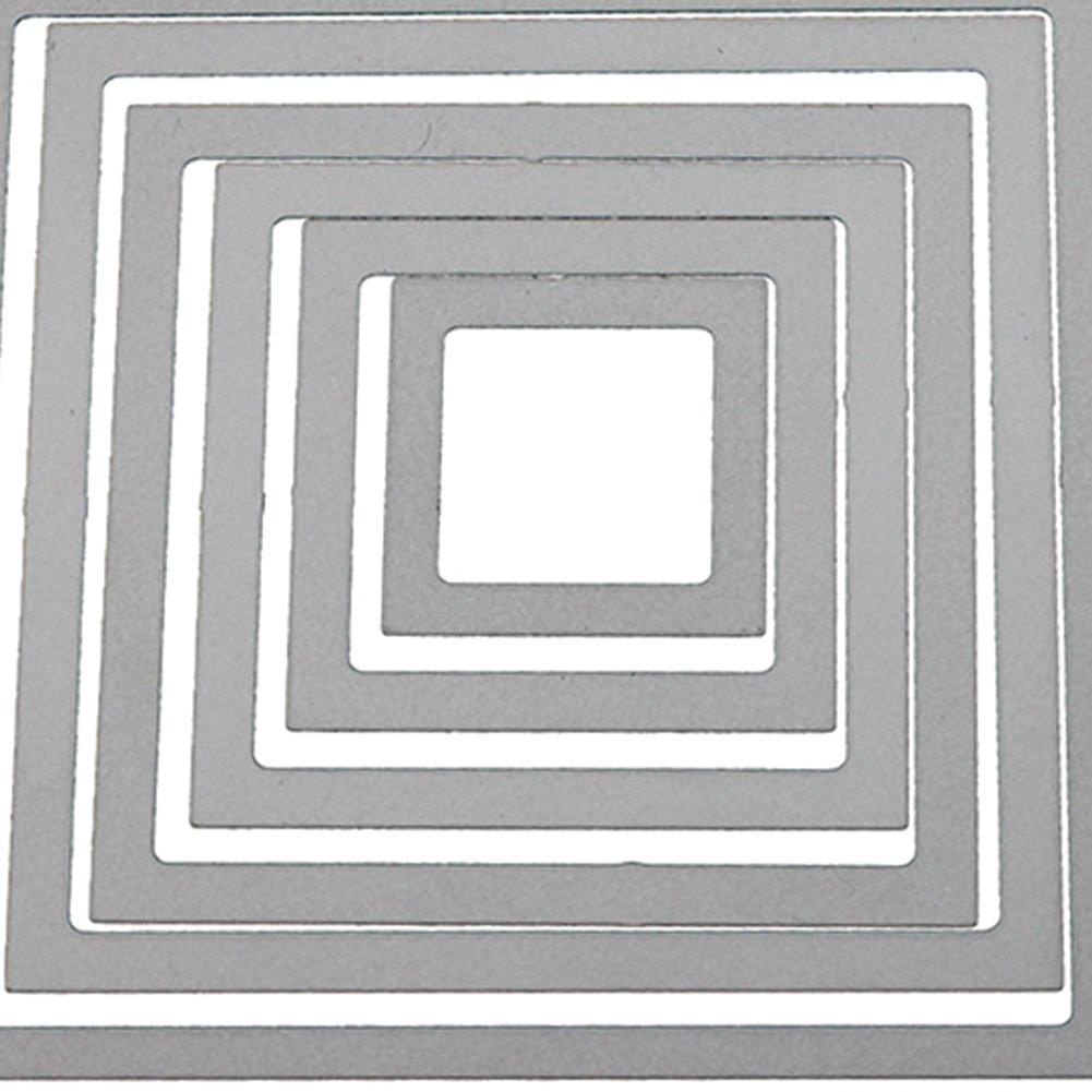 Bodhi2000 Metall-Stanzschablonen f/ür Bastelalben Papierkarten a