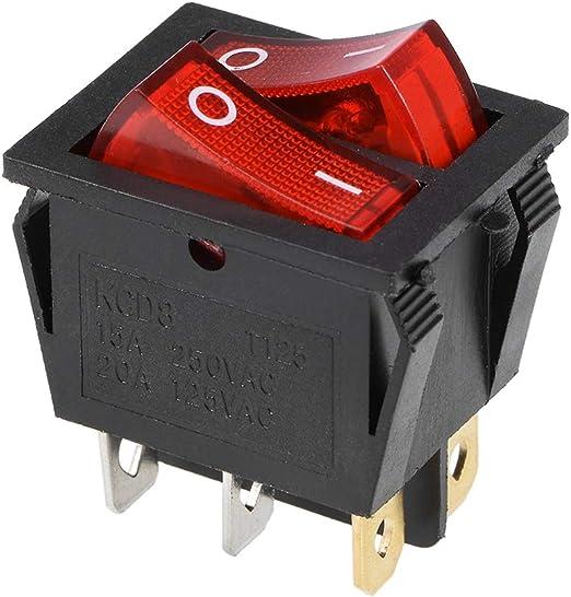 Boat Rocker Switch Toggle Switch 3pins ON//OFF//ON AC 250V//15A 125V//20A 1pcs