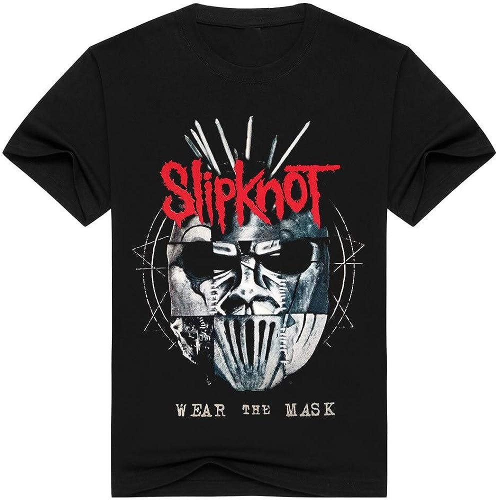 JIUYU Retro Heavy Metal Rock Slipknot Impreso Camiseta de Manga Corta para Hombre Ropa de niño: Amazon.es: Ropa y accesorios