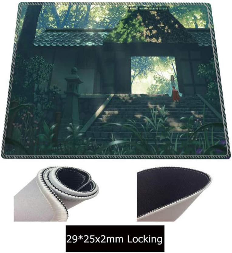 WHFDSBDTree House Scenery Large Gaming Mouse Pad Rubber Pc Computer Gamer Mousepad Desk Mat Locking Edge