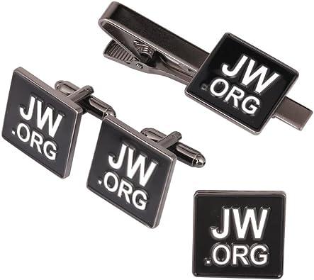 Fengteng JW.org Pasador Corbata Broche Cufflinks Conjunto ...