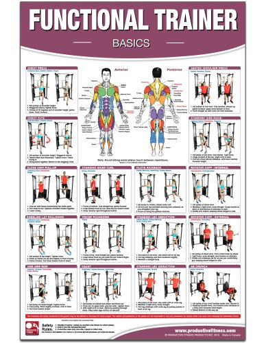 Functional Institutional/Home Gym Poster/Chart- Basics - Functional Trainer Posters, Functional Exercises, Adjustable Pulley Gym Posters, Workout ... Trainer Charts, Fitness Charts, Physio Gym