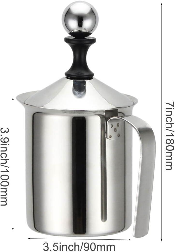 MyLifeUNIT acero inoxidable café espumador leche, jarrita para la leche para cappuccino, café espuma jarra: Amazon.es: Hogar