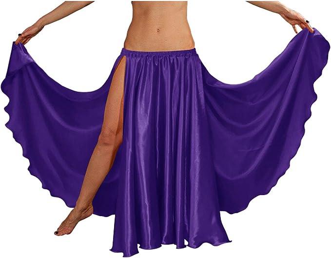 White Chiffon Full Circle Skirt Veil Belly Dance Wear Tribal Costume Jupe Gypsy