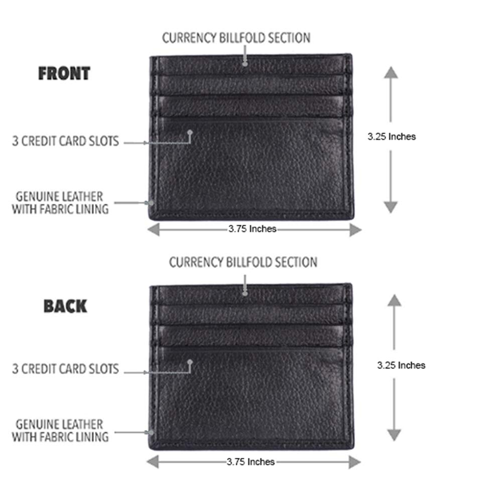 Business Card Holder Men's RFID Genuine Leather Slim ...
