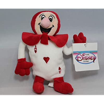 Out of Production Disney Alice in Wonderland Red Ace Bean Bag Plush Doll Mint with Tags: Toys & Games
