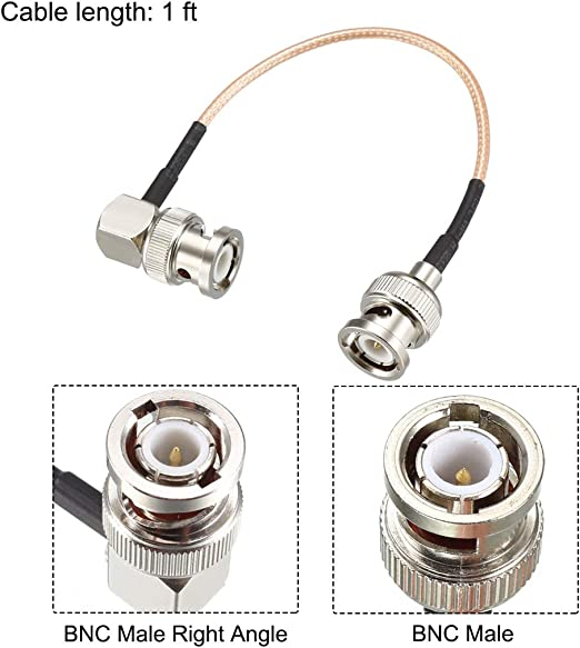 Details about  /BNC Male to BNC Male Right Angle Coax Cable RG316 Low Loss RF Coaxial Cable 6 ft