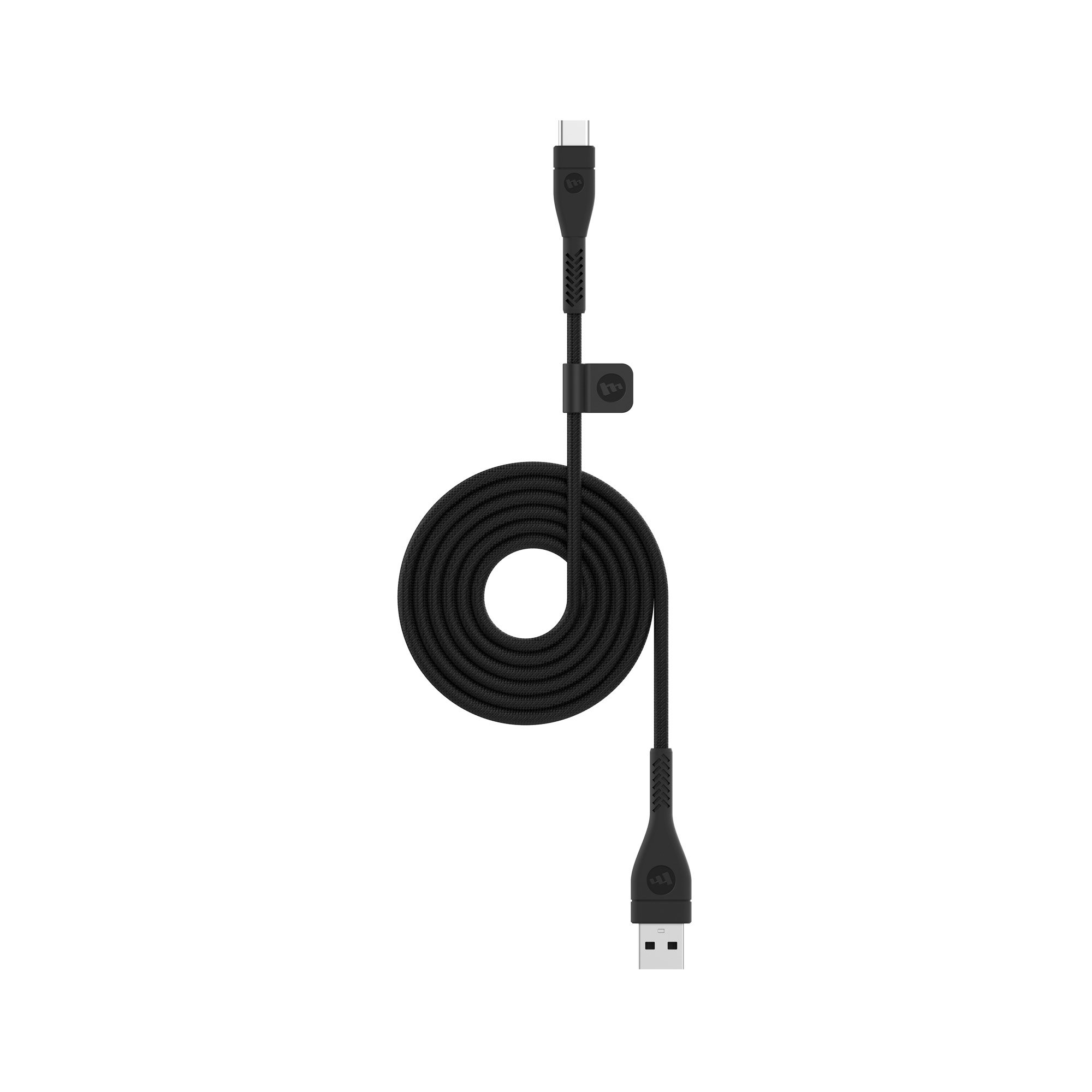 mophie 1 Meter PRO Cable - Micro USB 2.0 USB-A to USB-C Cable Made for Devices with a USB-a or USB-C connectors - Black