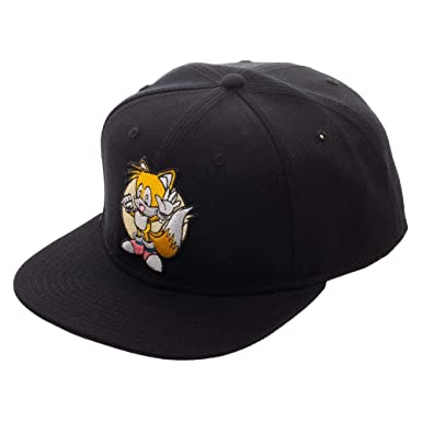 4f598f1a2b5 Image Unavailable. Image not available for. Color  Sega Sonic The Hedgehog  Tails Snapback Hat