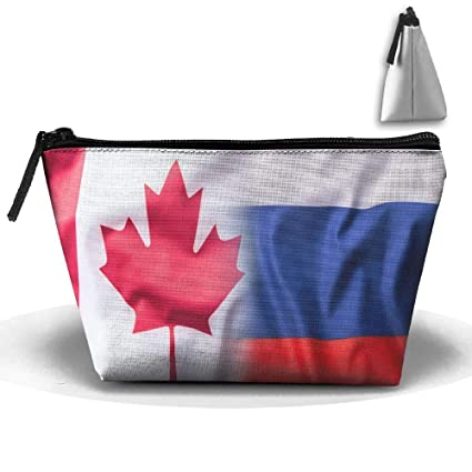 CANADÁ-Rusia Bandera Maquillaje portátil Recibir Bolsa ...