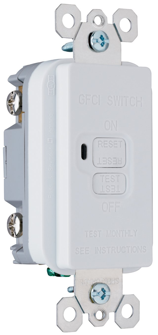 Legrand Pass Seymour 1597gryccd12 Gfci Receptacle 15 Amp 125 Volt Ground Fault Circuit Interrupter With Cover White20amp Outlets 20 Feed Thru Gray Led Household Light Bulbs