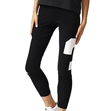Adidas Women s Originals Basketball Leggings Black White aj8869 (Size ... 2b76febd0a