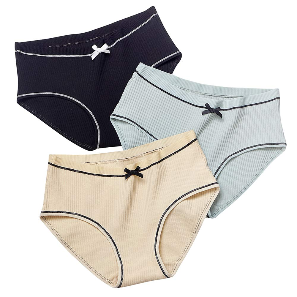 973bd47377b5 OUZIFISH Women's Cotton Underwear Bikini Panties Wide Band 3-Pack at Amazon  Women's Clothing store: