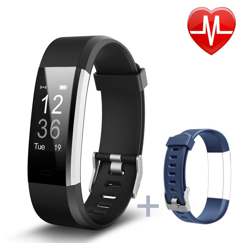 Lintelek Fitness Tracker, Heart Rate Monitor Activity Tracker with Connected GPS Tracker, Step Counter, Sleep Monitor, IP67 Waterproof Pedometer for Android and iOS Smartphone by Lintelek (Image #2)