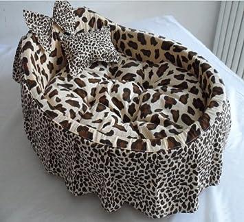 kingpets FS001 Fashion leopardo desmontable perro cama, cama de gato, pequeño/tamaño mediano/tamaño grande: Amazon.es: Productos para mascotas