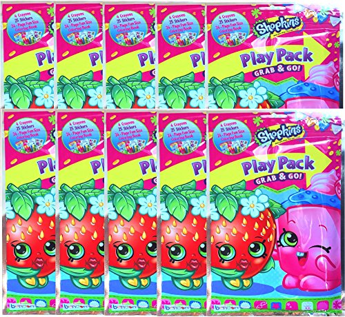 Shopkins Play Pack Grab & Go Children's Party Favor Bundle E