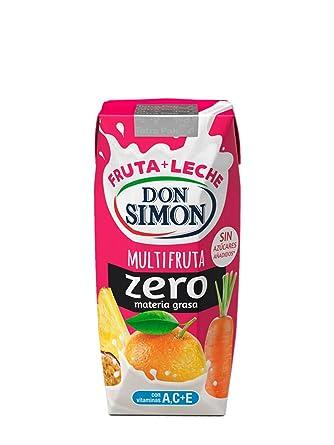 Don Simon Leche Desnatada y Zumo de Naranja, Zanahoria y Piña - Paquete de 24