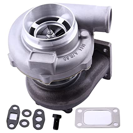 maXpeedingrods GT3037 GT3076R GT30 Turbo T3 4-Bolt Flange 500HP, 0 6A/R  0 82A/R 51Trim Turbocharger, Water+Oil Cooled Turbo Charger for all 6/8 cyl