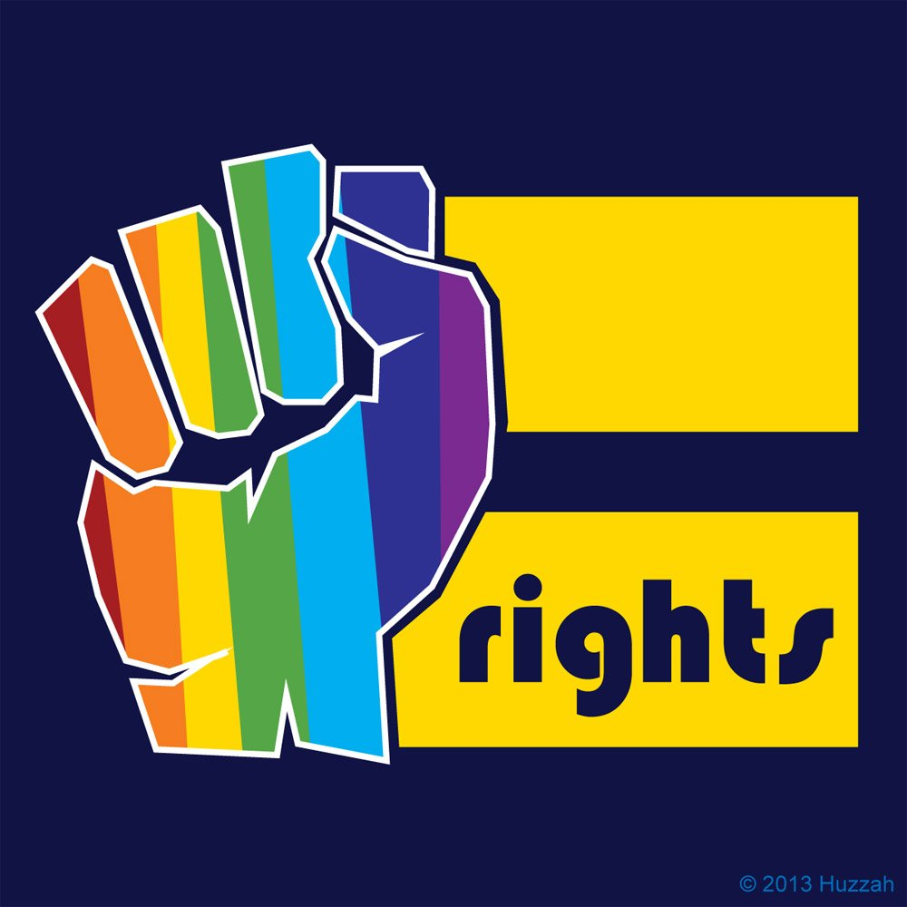 Galleon gay pride sticker rainbow equality power fist bumper sticker equal rights for lgbt 4 x 4 vinyl decal