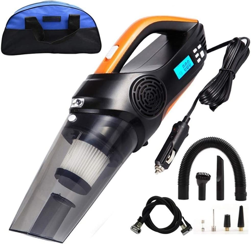 Aspirador de coche-SYY Bomba De Aire del Coche Luz LED, 3,5 KPa De Succión Potente Aspirador Handheld, Accesorios del Coche Completo, De Bajo Ruido Eliminación del Polvo: Amazon.es: Hogar