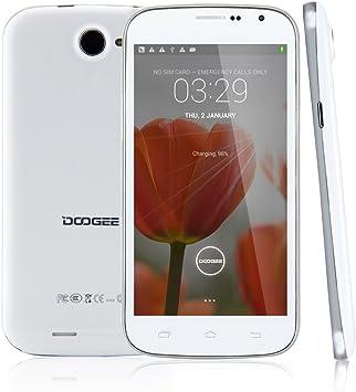 DOOGEE DISCOVERY2 DG500C Blanco Unlocked Movil 3G Con Pantalla de 5