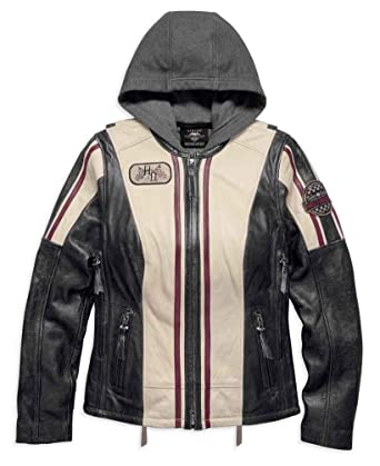 d02b31aa545b Amazon.com  Harley-Davidson Women s Alyssa 3-in-1 Leather Jacket ...