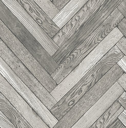 (Brewster 2767-23755 Altadena Diagonal Wood Wallpaper, Grey )