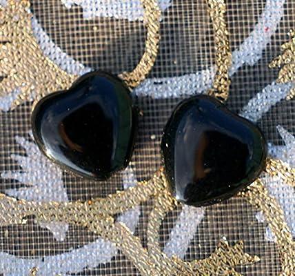 Brillante de Cristal Negro Coraz/ón Cord/ón Negro Coraz/ón Perlas de san Valent/ín Cord/ón de san valent/ín en Abalorios de Cristal checo Perlas de 10mm 10pc
