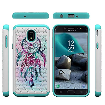 Amazon.com: Galaxy J7 2018 Case,Durable Slim 2 in 1 Hybrid ...