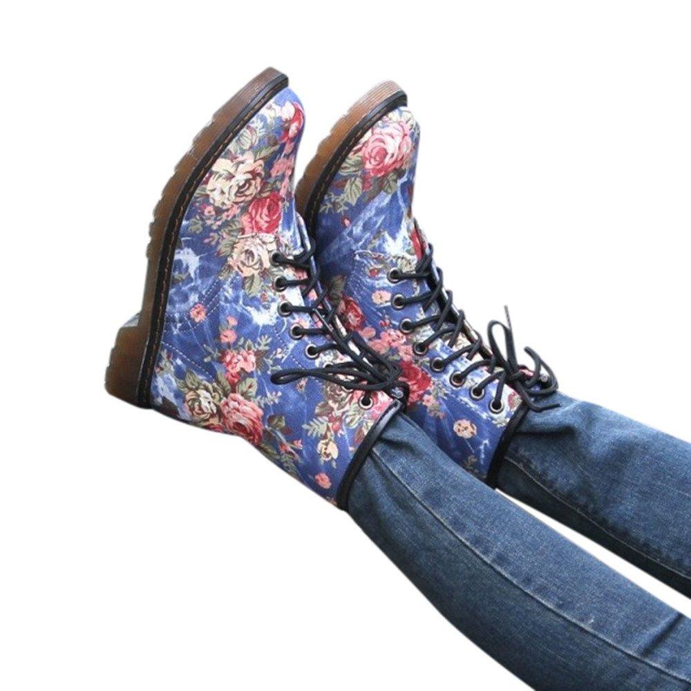 Chaussures Femmes, Sonnena Bottes Femme Bottes Plat Doux Compensé es Bas Tube Moyen Bottes Chaussures Dé contracté es Sneakers Shoes