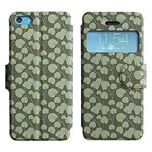 LEOCASE modelo verde Funda Carcasa Cuero Tapa Case Para Apple iPhone 5C No.1004444