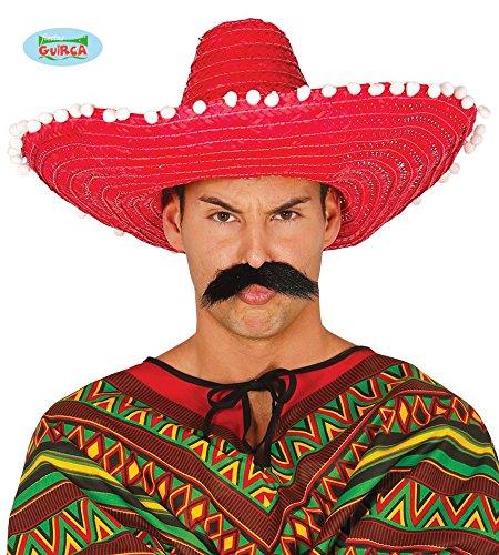 6f913829f8d8c Guirca 13650 - Sombrero Mexicano Paja 50 Cms. Rojo  Amazon.es  Juguetes y  juegos