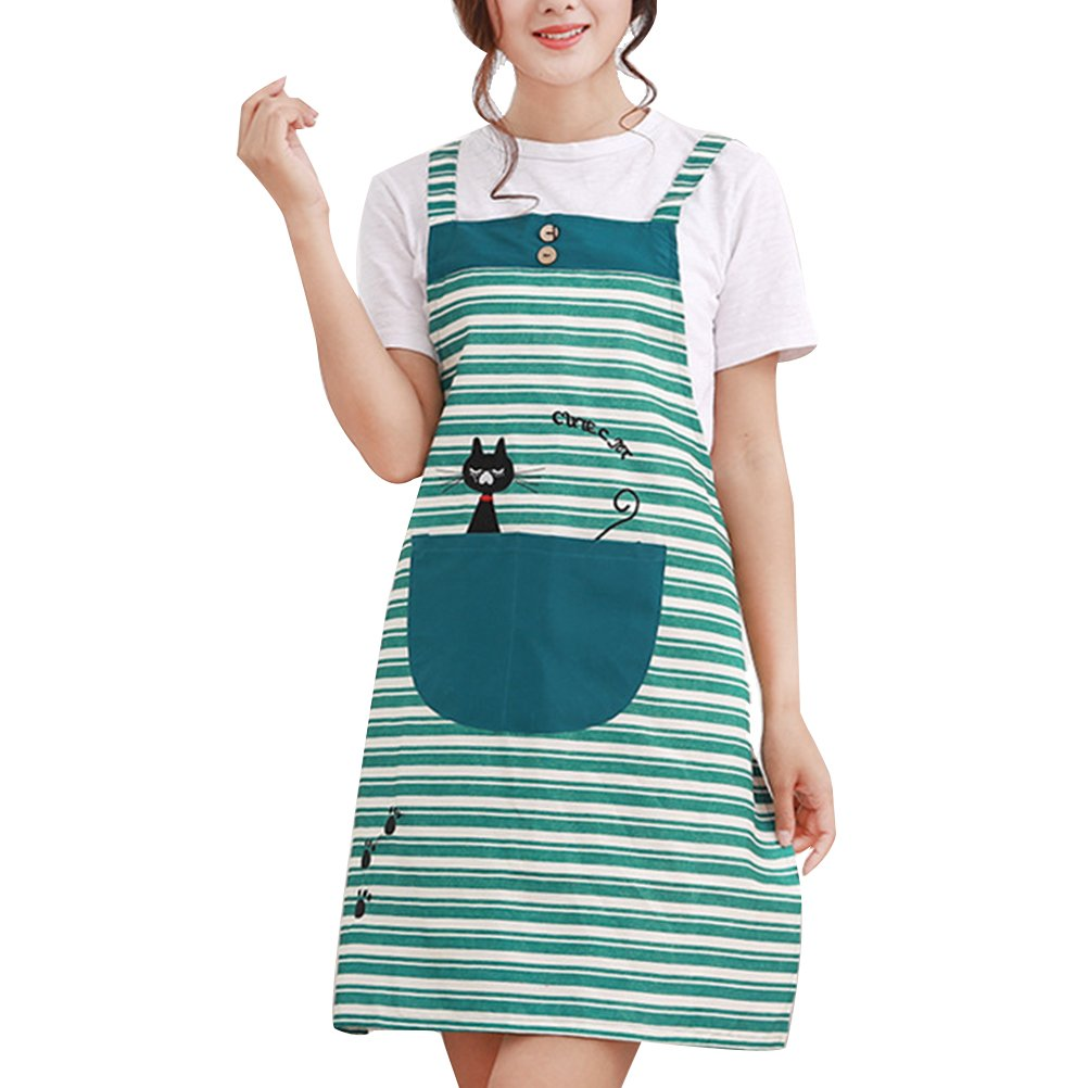Zhhlaixing Moda Quality Grilling Work Adult Housewife Chef kitchen Cooking Aprons For Women