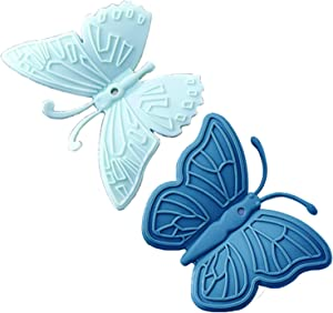 Homeberry Butterfly Mini Silicone Oven Mitt, Magnetic Heat Resistant Gloves for All Pot, Oven, Air Fryer, Pot Holders for Kitchen, 2 pcs (Blue)